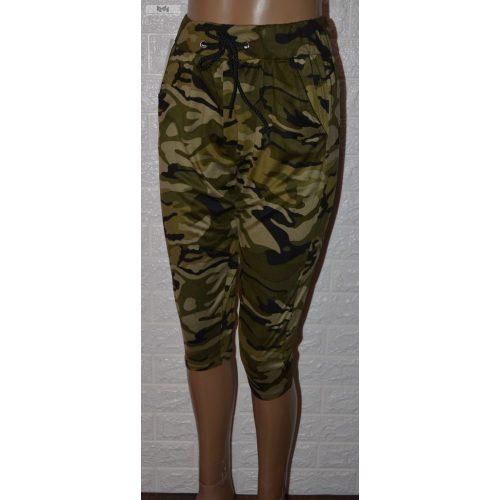 Katonai Mintázatú Elasztikus Zöld Térd Leggings ! M/L