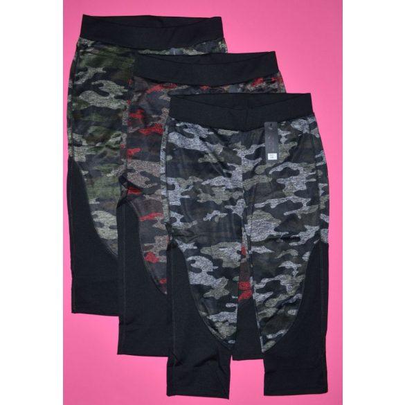 Katonai Mintázatú Elasztikus Piros Térd Leggings ! S/M